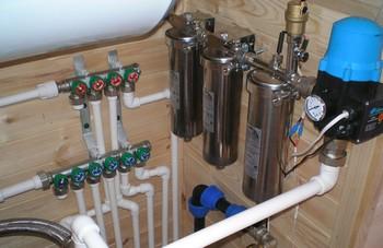 замена стояков водоснабжения и установка фильтров