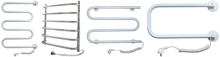 Установка электрических полотенцесушителей