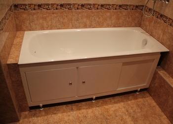Установка стальной ванны в квартире